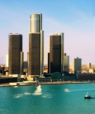 Windsor Ontario Vue Depuis Detroit Michigan