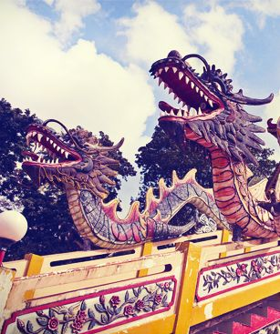 Palembang Dragons Colores Sur La Pagode