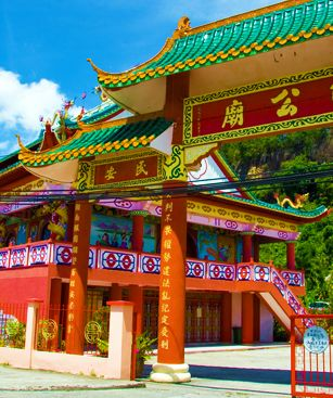 Sandakan Temple Chinois Colore