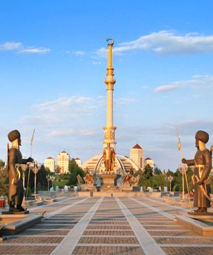 Achgabat Monument Independance Paix