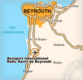 Plan de l'Aéroport international Rafic Hariri de Beyrouth