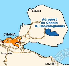 Plan de l'Aéroport international de Chania K. Daskalogiannis