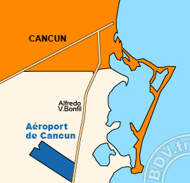 Plan de l'Aéroport de Cancun