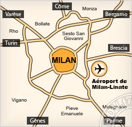 Plan de l'Aéroport de Linate - Milan