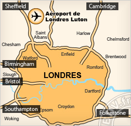 Plan de l'aéroport de Londres