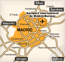 Plan de l'aéroport de Madrid