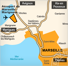 Plan de l'aéroport de Marseille
