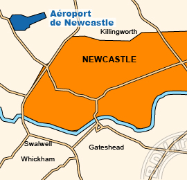 Plan de l'Aéroport de Newcastle