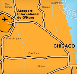Plan de l'aéroport de Chicago