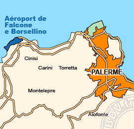Plan de l'Aéroport de Falcone e Borsellino