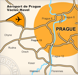 Plan de l'Aéroport de Prague - Ruzyne
