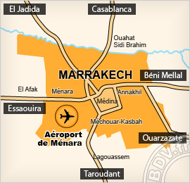 Plan de l'Aéroport de Menara - Marrakech