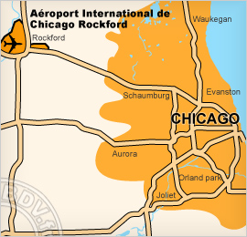 Plan de l'Aéroport international Chicago Rockford