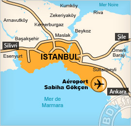 Plan de l'Aéroport International de Sabiha Gökçen