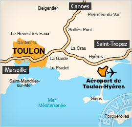 Plan de l'aéroport de Toulon