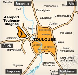 Plan de l'aéroport de Toulouse