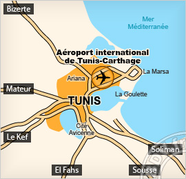 Plan de l'Aéroport de Tunis - Carthage