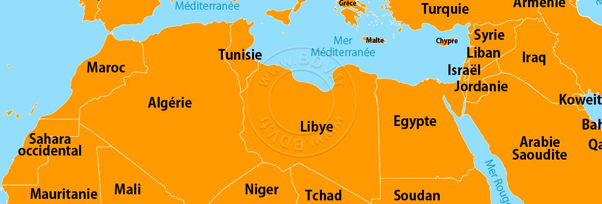 Continent Afrique du Nord Maghreb