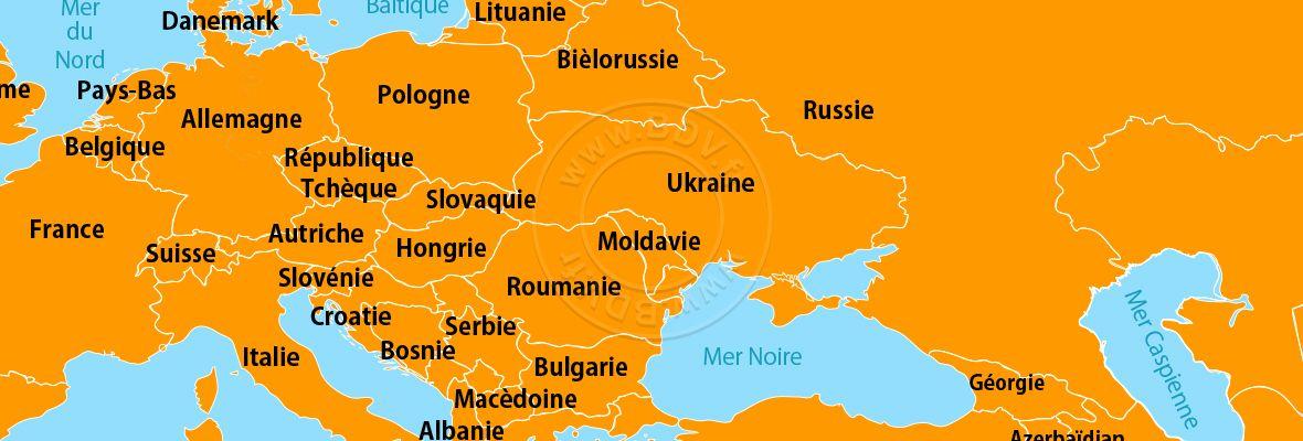 carte europe de l4est