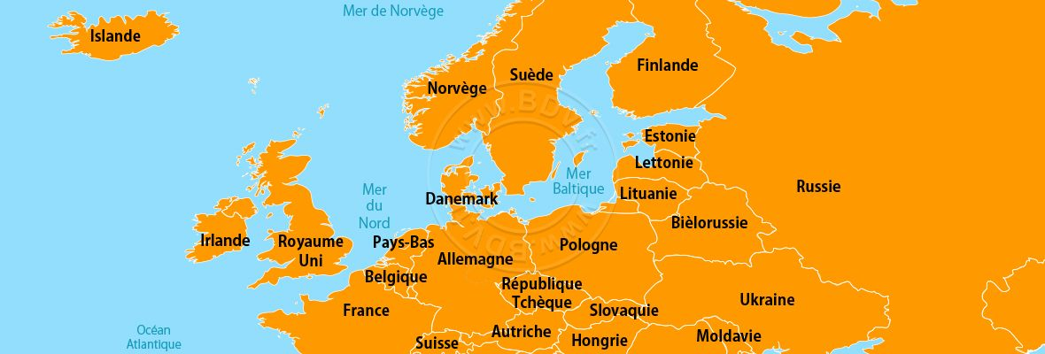 Continent Europe du Nord