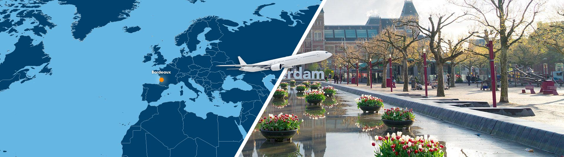 Vol bordeaux amsterdam pas cher r server un billet avion for Reserver pas cher