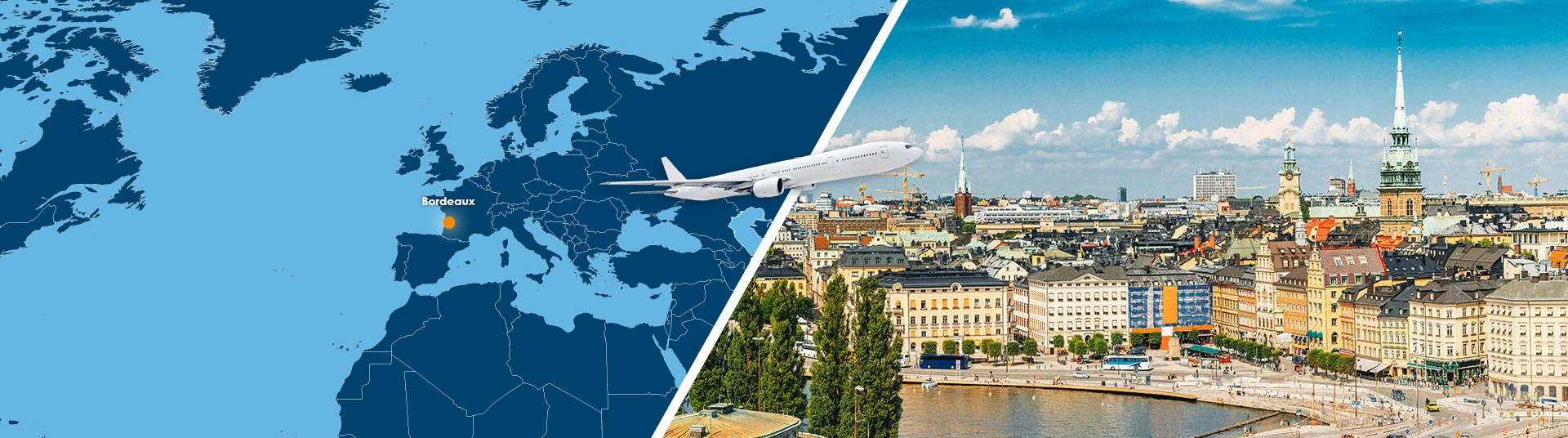 vol bordeaux stockholm pas cher : réserver un billet avion bod-sto