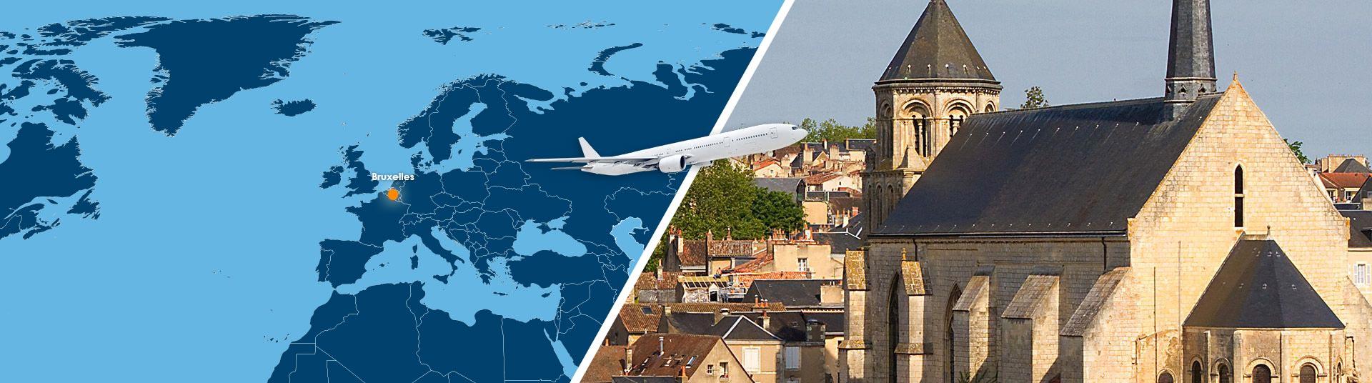 Vol Bruxelles Poitiers pas cher : Réserver un billet avion