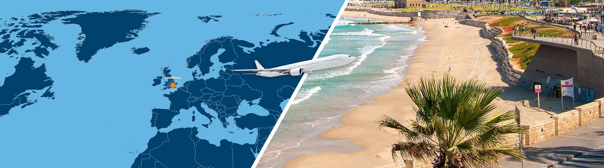 Vol londres tel aviv pas cher r server un billet avion for Vol interieur israel