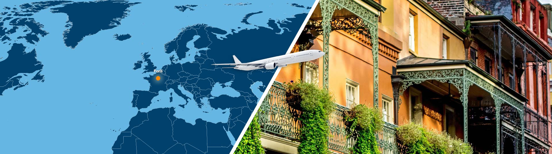 vol paris nouvelle orleans pas cher r server un billet avion par msy. Black Bedroom Furniture Sets. Home Design Ideas