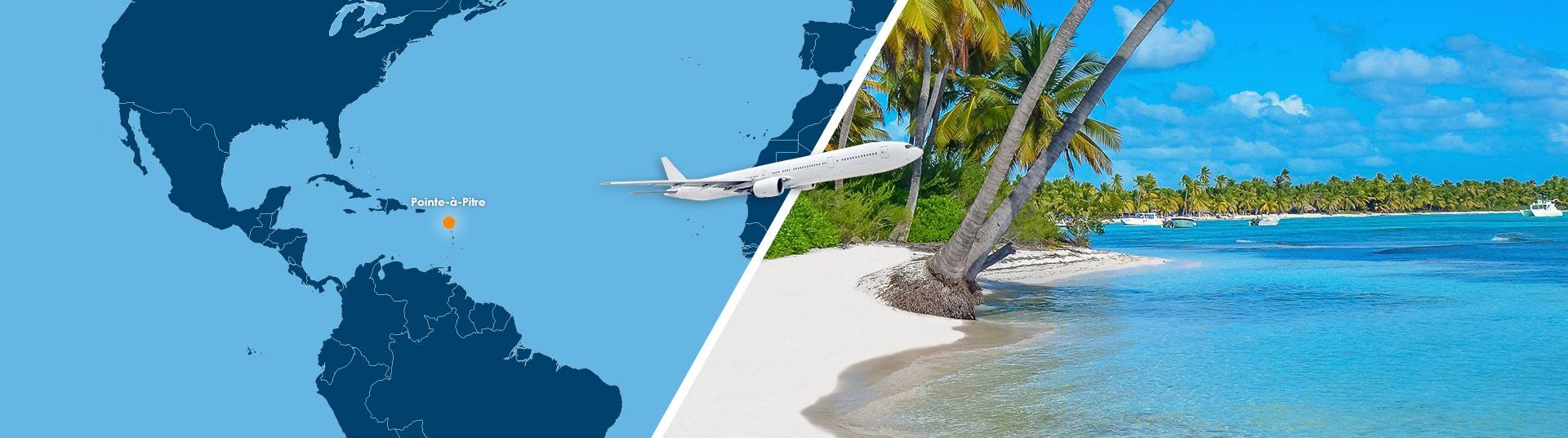 vol pointe-à-pitre saint martin pas cher : réserver un billet avion
